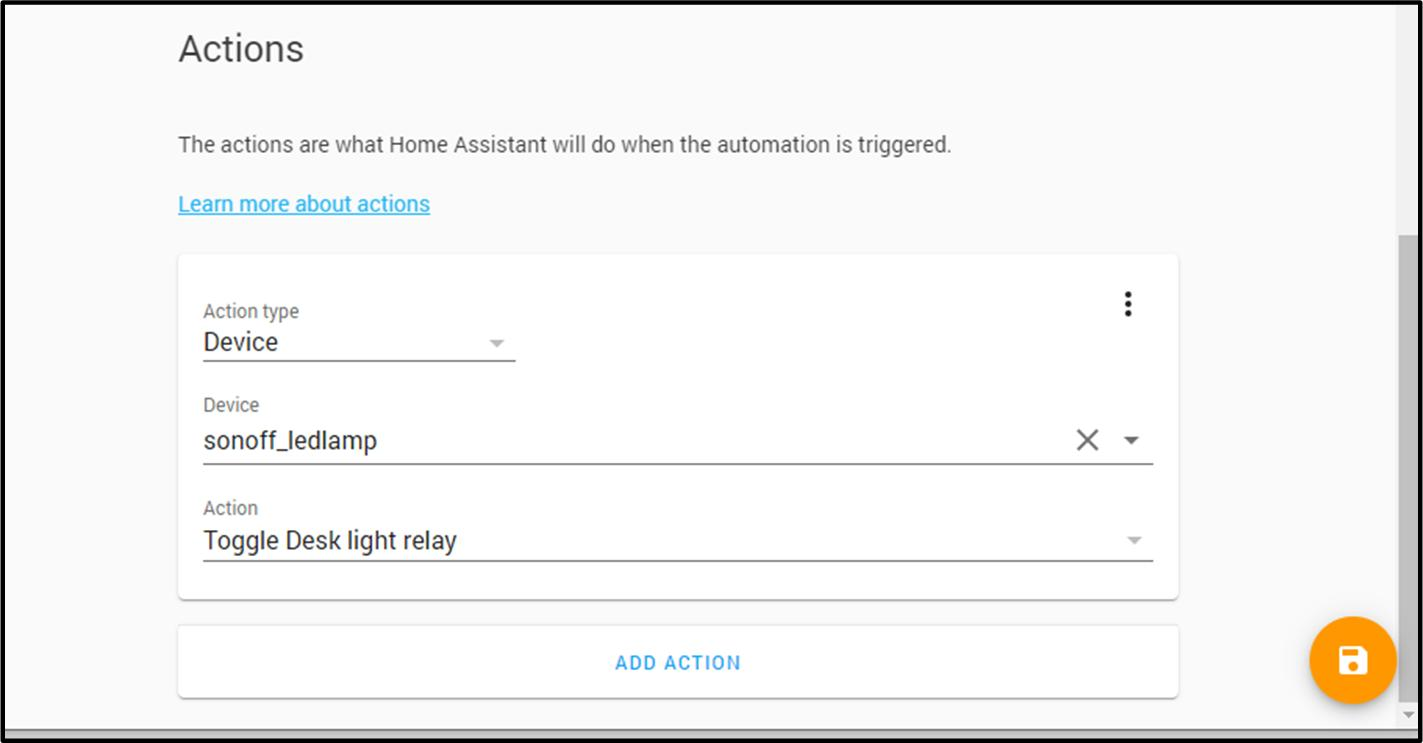 Proteus Home Assistant Setup Guide action