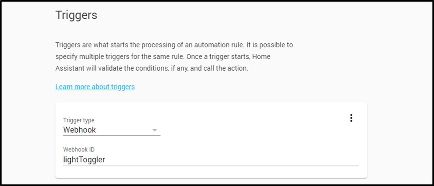 Proteus Home Assistant Setup Guide automation trigger
